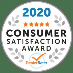 dealer rater 2020 consumer satisfaction award